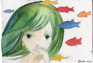 Japanese Mermaid ACEO | by usova