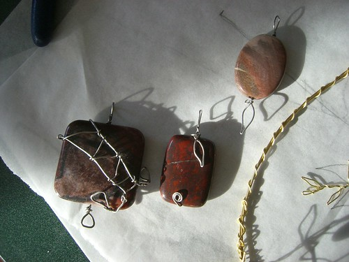 Wire-wrapped pendants | by jfeathersmith