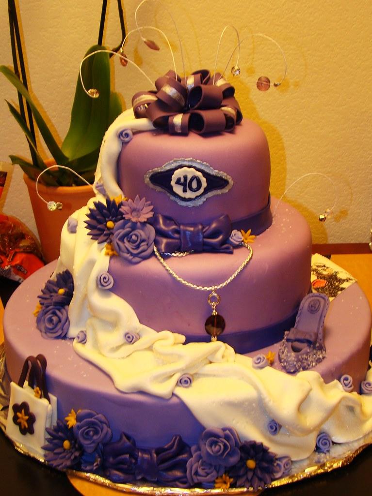 Big Sister 40th Birthday Cake Layersoflove Flickr
