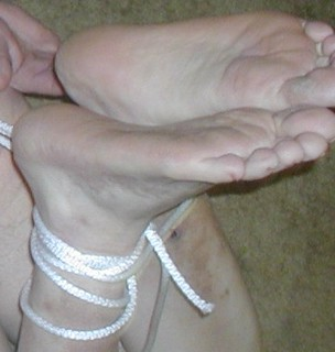 to feet lick up Tied