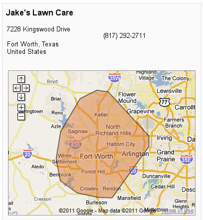 Service Area for Jake's Lawn Care | by Si1very