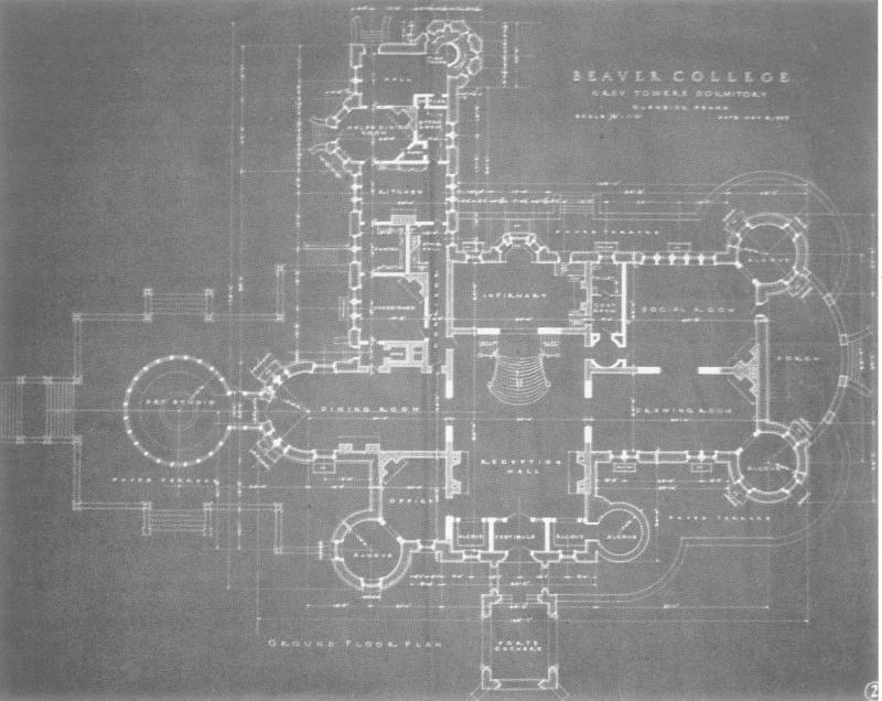 Grey towers 1955 blueprint arcadia university flickr grey towers 1955 blueprint by arcadia university news malvernweather Image collections