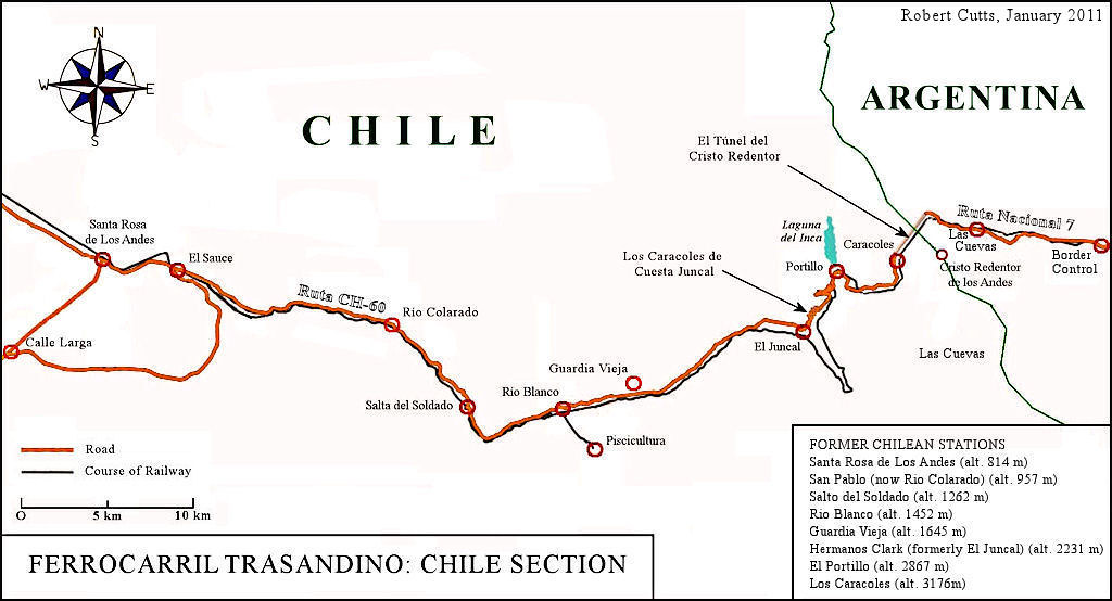The Chile Section Of The Transandine Railway This Is The F Flickr - Argentine railway map