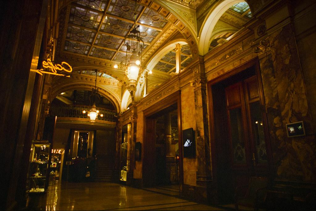 Belgium - The Hotel Metropole Lobby | Nikon FE with Fuji Pre