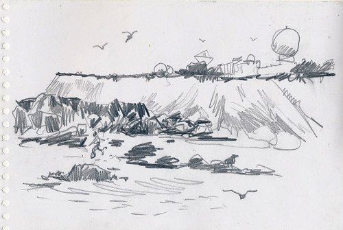 Sketchbook #100: Drawing while kayaking
