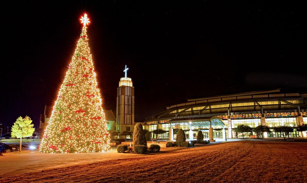 prestonwood baptist church christmas tree hdr by matt pasant