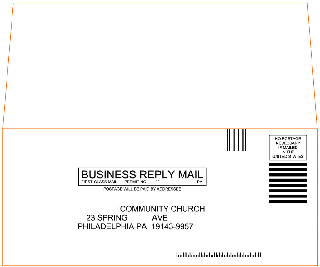 Printingyoucantrust Church Donation Envelope Outside