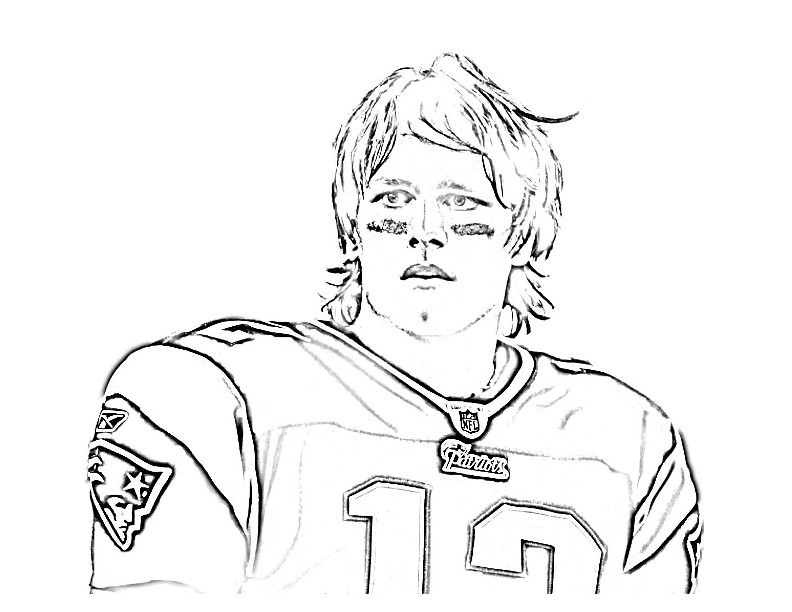 tom brady coloring pages Tom Brady Coloring Page | From CBS Boston: