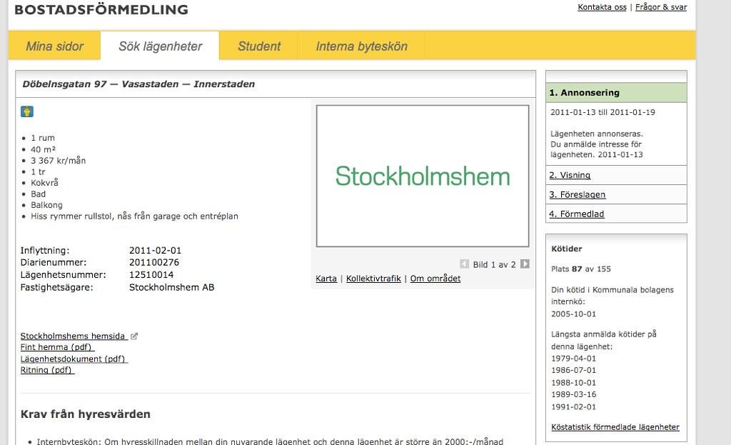stockholms bostadsförmedling mina sidor