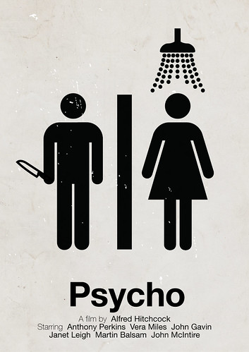 'Psycho' pictogram movie poster | by Viktor Hertz