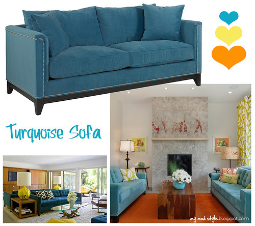 Turquoise Sofa Inspiration1 | by Jessie {Creating Happy}