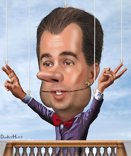 Wisconsin Gov. Scott Walker is a puppet for the Oligarchy | by DonkeyHotey