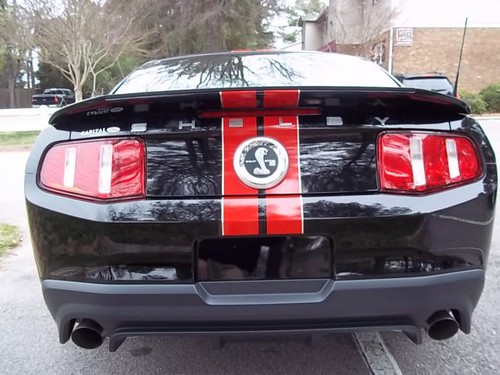 2012 Shelby Rear Black Red 2012 Mustang Shelby Gt500