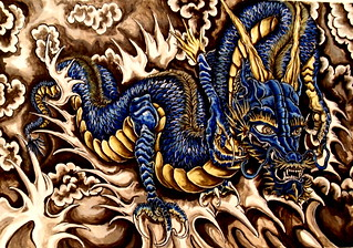 blue dragon tattoo | by ddmatt31
