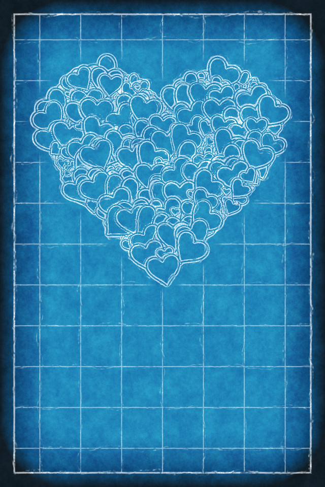 Iphone background heart blueprint happy valentines day flickr iphone background heart blueprint by patrick hoesly malvernweather Gallery