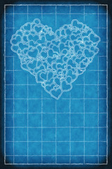 Iphone background heart blueprint happy valentines day flickr iphone background heart blueprint by patrick hoesly malvernweather Choice Image