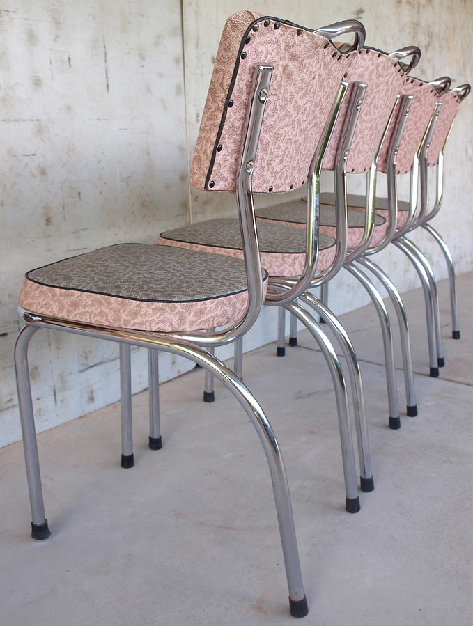 1950s retro pink laminex kitchen chairs extremely well loo flickr