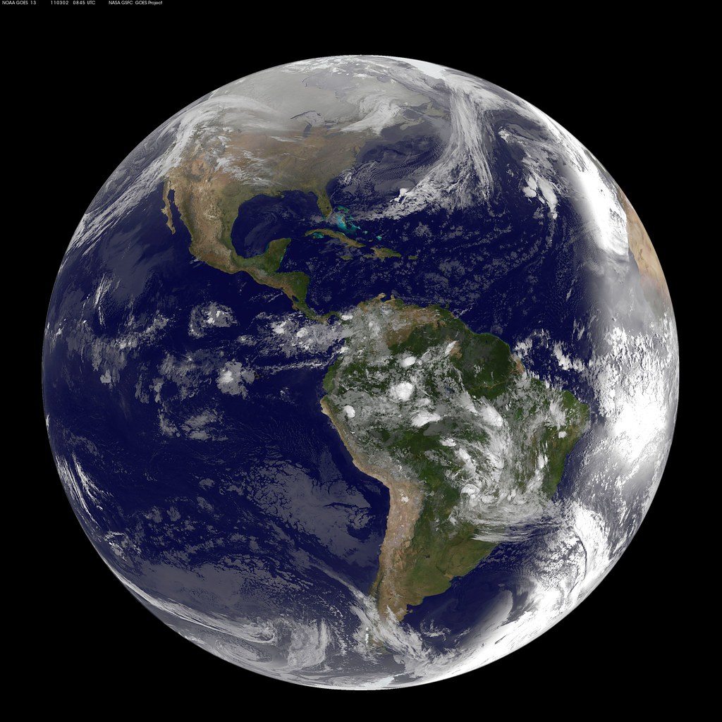 Full Disk Image Of Earth Captured March 2 2011