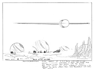 Sketch of alien planet landscape | by The National Archives UK