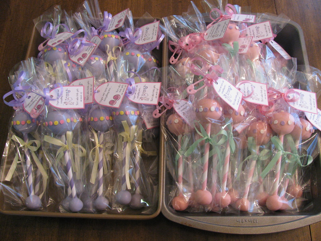 Baby Rattle Cake Pops Baby Rattles Both Ends Are Cake Pop Flickr