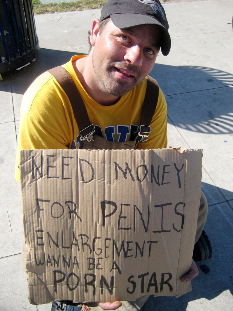 Homeless Porn Stars - ... HOMELESS WITH SIGN \