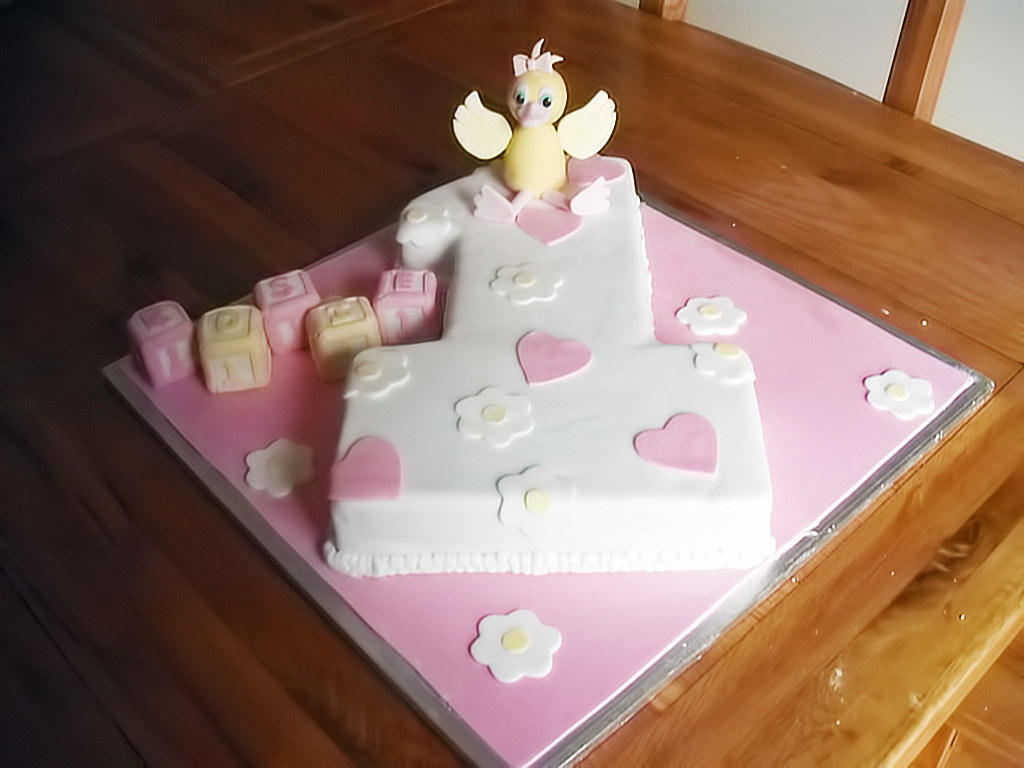 Duck Age 1 Birthday Cake Vanilla Milk Free Cake I Love Th Flickr