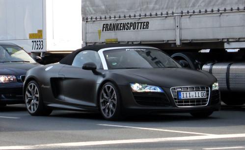 matte black audi r8 v10 spyder in nuremberg this car made flickr. Black Bedroom Furniture Sets. Home Design Ideas