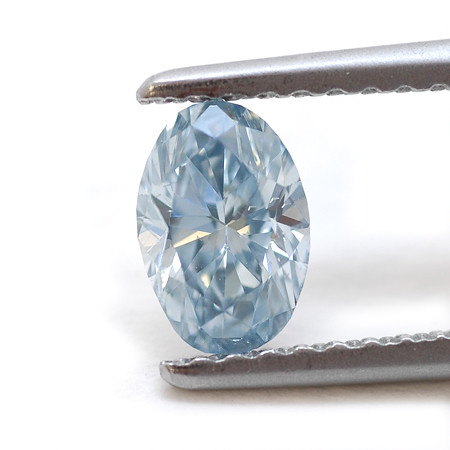 Fancy Intense Blue, Oval Diamond by Leibish \u0026 Co   0.50cts ...