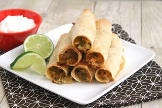 Creamy Baked Chicken Taquitos | by Tracey's Culinary Adventures
