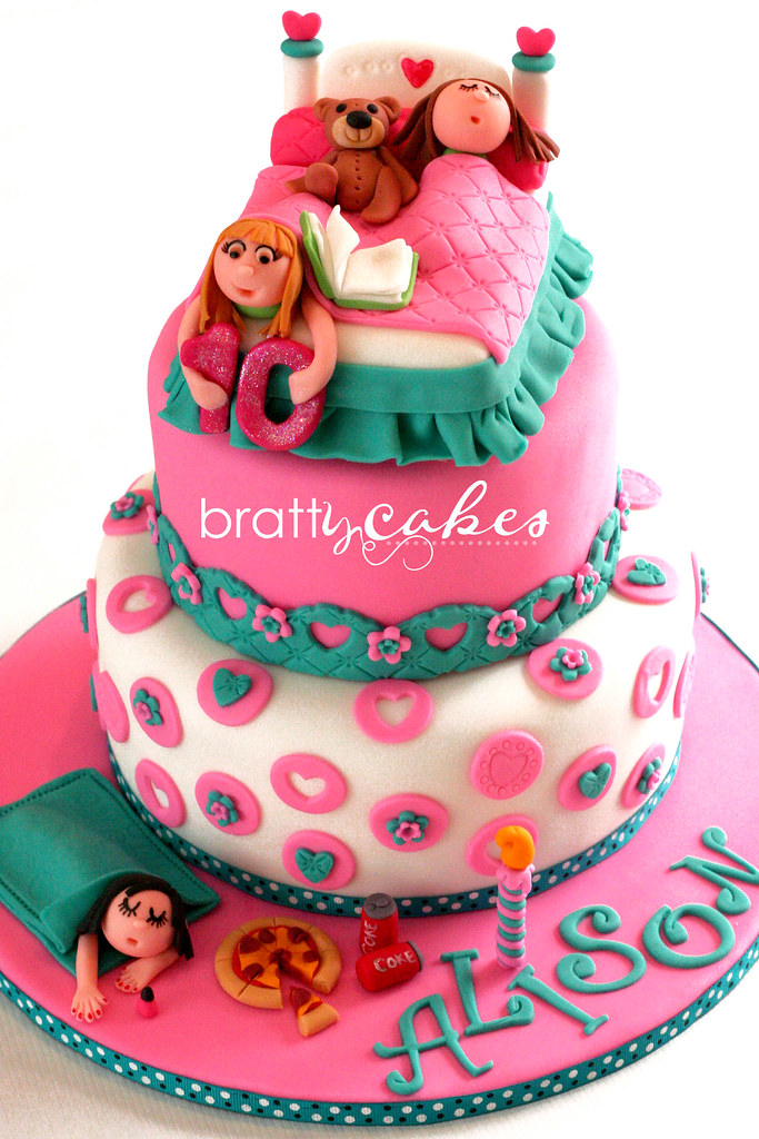 Slumber Party Cake This Was My First Request For A Slumber Flickr
