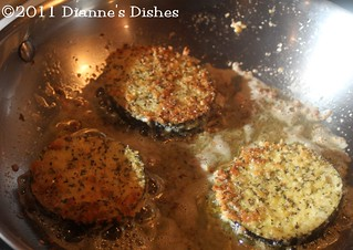 Eggplant Parmesan: Eggplant frying | by Dianne's Dishes