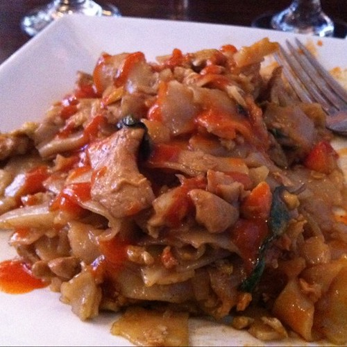 Pad Kee Mao plus Sweet Chili sauce from my Money Bags | by Stephen Holsinger