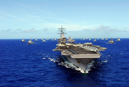 USS Ronald Reagan and other ships from RIMPAC 2010 transit the Pacific. | by Official U.S. Navy Imagery