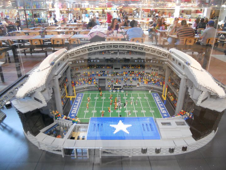 LEGO CowBoys Stadium - LEGOLAND Discovery Center Dallas - … | Flickr
