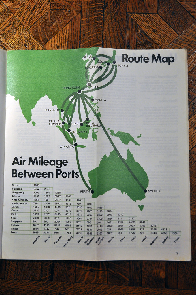 Cathay Pacific Route Map 1975 | Very simple, very regional v… | Flickr