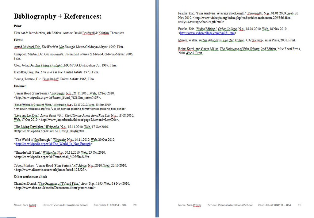 Extended Essay Bibliography  Bibliography  References  Flickr  Extended Essay Bibliography  By Sarap
