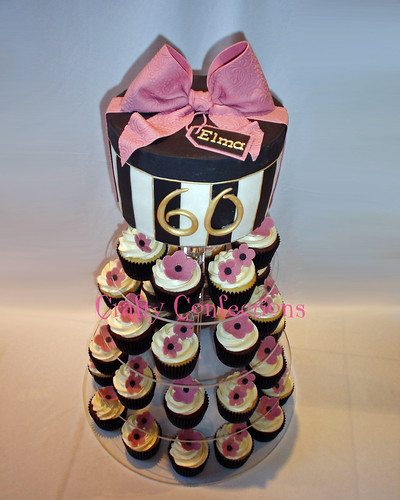 Dusky Pink Hatbox Cupcake Tower For This Cupcake Tower