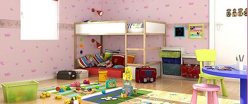 papier peint chambre fille chantemur chantemur papier peint flickr. Black Bedroom Furniture Sets. Home Design Ideas