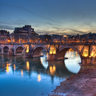 Ponte degli Angeli by night, Rome - Italy | by luigig75