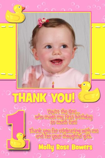 Rubber ducky youre the one first 1st birthday thank you c flickr rubber ducky youre the one first 1st birthday thank you card by poshnchicprints bookmarktalkfo Image collections