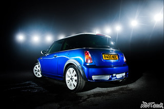 BMW Mini Cooper In Blue With White Stripes Who Needs The Red Carpet | by NWVT.co.uk