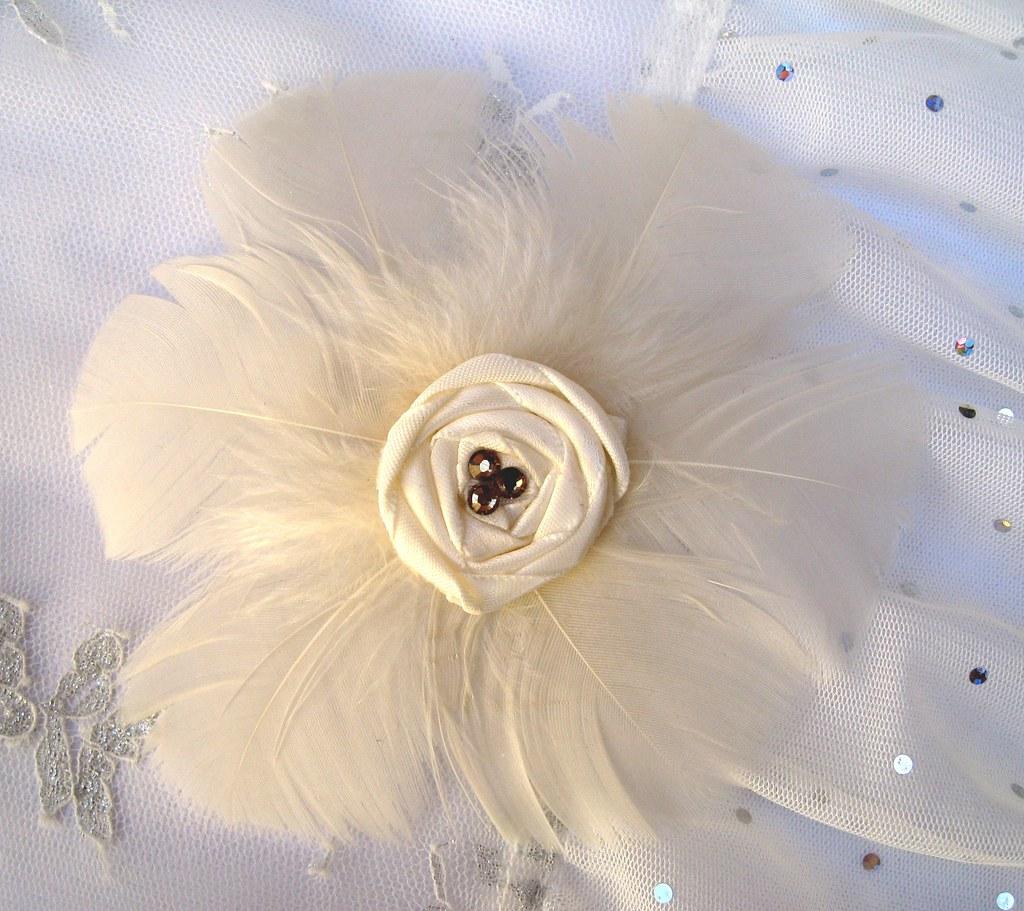 Ivory Feather Flower Hair Clip Feather Flower Hair Clip Av Flickr