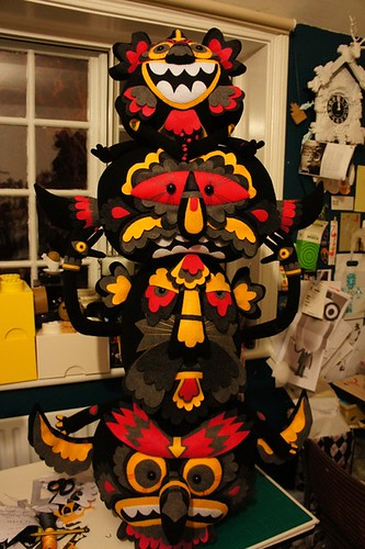 Almost completed Totem | by Felt Mistress