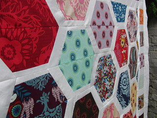 Hexagon Crush Quilt Top | by Laura @ Needles, Pins and Baking Tins