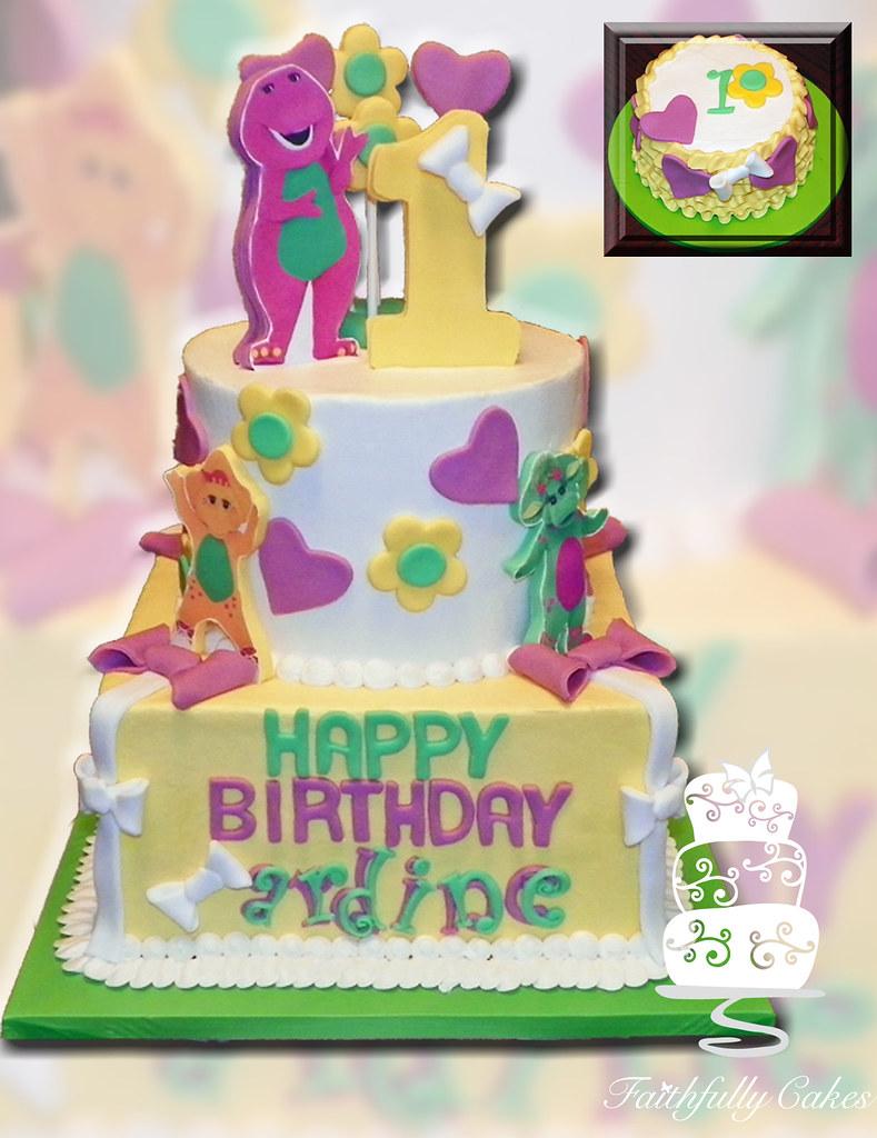 Barney 1st Birthday FaithfullyCakes Flickr