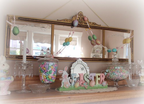 Easter spring mantel decor eli anne marie flickr for Anne marie witmeur decoration