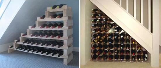 ... Under Stair Wine Rack 550x233 | By Juydebaron
