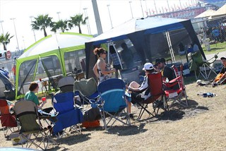 Fans are setup in the infield for the long day ahead | by IndyCar Series