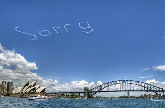 SORRY - Sydney Opera House, Australia  National Sorry Day 2015