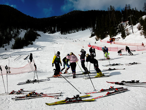 Ski Racers at the Bottom of the Course, Montana Snowbowl | by CT Young